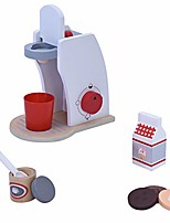 cheap -wooden coffee maker toy set, simulation coffee maker with a dial to indicate kitchen pretend play toys for kids (multicolor)