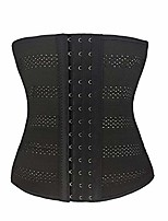 "cheap -women's waist trainer corset for weight loss steel boned tummy control training body shaper with adjustable hooks&eyes (#2 black,2xl(waist 30""-31""))"