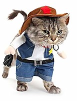 cheap -cat cowboy costume hat funny costume for cats & small dogs