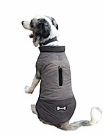 cheap -dog jackets for winter windproof waterproof reversible dog coat for cold weather warm dog vest clothing gray