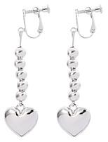 cheap -Women's Drop Earrings Earrings Heart Sweet Heart Classic Punk Trendy Fashion Earrings Jewelry Silver For 1 Pair