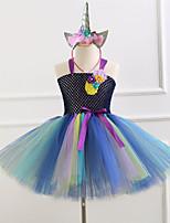 cheap -Princess Dress Girls' Movie Cosplay New Year's White / Black Dress Headwear Christmas Halloween Carnival Polyester / Cotton Polyester