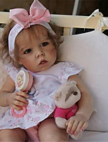 cheap -20 inch Reborn Doll Baby & Toddler Toy Baby Girl Reborn Baby Doll Liam Newborn lifelike Hand Made Simulation Floppy Head Cloth Silicone Vinyl with Clothes and Accessories for Girls' Birthday and