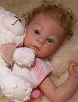 cheap -21 inch Reborn Doll Baby & Toddler Toy Baby Girl Reborn Baby Doll Harlow Newborn lifelike Hand Made Simulation Floppy Head Cloth Silicone Vinyl with Clothes and Accessories for Girls' Birthday and