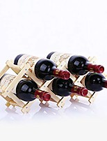 cheap -turmzpy wood and brass collapsible accordion wine rack table decor 5 bottle