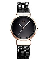 cheap -sk shengke female mesh watches simple face stainless steel back case fashion ladies wristwatch