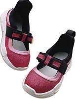 cheap -Girls' Flats Comfort PU Little Kids(4-7ys) Walking Shoes Black / Fuchsia / Gold Spring / Fall