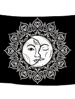 cheap -Wall Tapestry Art Decor Blanket Curtain Picnic Tablecloth Hanging Home Bedroom Living Room Dorm Decoration Polyster Bohemia Black Background White Mandala Sun Beauty Views