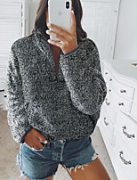 cheap -Women's Pullover Sweatshirt Zip Up Hoodie Sweatshirt Solid Color Plain Front Pocket Basic Hoodies Sweatshirts  White Black Red