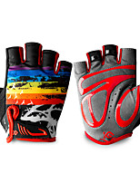 cheap -Bike Gloves / Cycling Gloves Lightweight Breathable Quick Dry Anti-Slip Fingerless Gloves Sports Gloves Lycra Black / Red Black / White Black / Blue for Child's Outdoor Exercise Activity & Sports