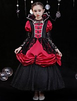 cheap -Princess Shakespeare Rococo Gothic Vintage Inspired Medieval Vacation Dress Dress Party Costume Masquerade Women's Costume Black / Red Vintage Cosplay Party Masquerade Wedding Party 3/4-Length Sleeve