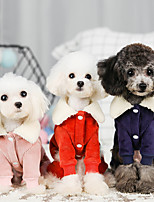 cheap -Dog Coat Jumpsuit Character Casual / Sporty Fashion Casual / Daily Winter Dog Clothes Breathable Red Blue Pink Costume Cotton S M L XL XXL