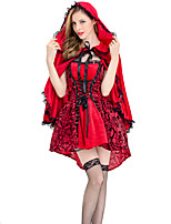 cheap -Movie / TV Theme Costumes Cosplay Costume Costume Women's Movie Cosplay Retro Vacation Dress Red Dress Cloak Christmas Halloween Carnival Polyester / Cotton