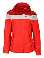 cheap -women's roam lightweight waterproof hooded rain jacket, red apple/canvas, medium