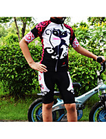 cheap -Boys' Girls' Half Sleeve Cycling Jersey with Shorts - Kid's Green / Black Red+Black Pink+White Bike Sports Mountain Bike MTB Road Bike Cycling Clothing Apparel