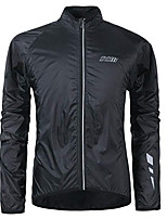 cheap -Men's Long Sleeve Cycling Jacket Black Solid Color Bike Jacket Top Mountain Bike MTB Road Bike Cycling Waterproof Windproof Sports Clothing Apparel