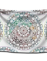 cheap -Wall Tapestry Art Decor Blanket Curtain Picnic Tablecloth Hanging Home Bedroom Living Room Dorm Decoration Polyster White Background Colorful Bohemia Mandala View