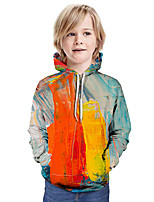 cheap -Kids Boys' Active Basic Color Block 3D Graphic Print Long Sleeve Hoodie & Sweatshirt Rainbow
