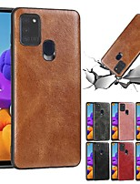 cheap -Case For Samsung Galaxy A21S Ultra thin Back Cover Solid Colored PU Leather Galaxy A01 A11 M31 M11 A21 A31 A41 A70E A51 A71 M51