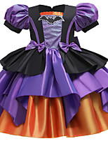 cheap -Princess Cosplay Costume Girls' Movie Cosplay Tutus Euramerican Vacation Dress Purple Dress Christmas Halloween Carnival Polyester / Cotton Polyester