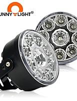 cheap -CNSUNNYLIGHT 2PCS  9 LEDs Car Daytime Running Lights DRL Car Day Time Lamp White Waterproof For 12V Auto Fog Lights Car-styling 6500K