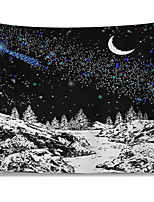 cheap -Wall Tapestry Art Decor Blanket Curtain Picnic Tablecloth Hanging Home Bedroom Living Room Dorm Decoration Polyester Moon Stars Snow Views