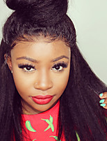cheap -Ombre kinky Straight Yaki Middle Part Wig Medium Length Natural Black #1B Black / Strawberry Blonde Ombre Black / Medium Auburn Black / Dark Wine Black / Auburn Synthetic Hair Women's Fashionable