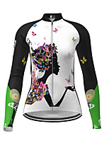 cheap -Women's Long Sleeve Cycling Jersey Yellow Red Fuchsia Novelty Bike Jersey Top Mountain Bike MTB Road Bike Cycling Quick Dry Sports Clothing Apparel / Micro-elastic