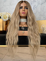 cheap -Synthetic Wig Body Wave Middle Part Wig Very Long Blonde Synthetic Hair Women's Middle Part Exquisite Romantic Blonde