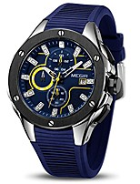 cheap -men's sports analogue army military chronograph luminous quartz watch with stylish blue silicone strap for gifts