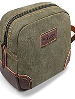 cheap -men's toiletry bag leather and canvas travel toiletry bag dopp kit for men shaving bag for travel accessories dark green