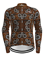 cheap -21Grams Men's Long Sleeve Cycling Jersey Coffee Novelty Bike Jersey Top Mountain Bike MTB Road Bike Cycling Quick Dry Sports Clothing Apparel / Micro-elastic