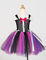 cheap -Witch Cosplay Costume Party Costume Girls' Movie Cosplay Tutus Plaited Vacation Dress Black Dress Christmas Halloween Carnival Polyester / Cotton Polyester
