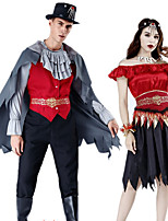 cheap -Pirate Cosplay Costume Party Costume Adults' Men's Cosplay Halloween Halloween Festival / Holiday Polyester Red Men's Women's Easy Carnival Costumes