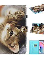 cheap -Case For Samsung Galaxy Tab A2 10.5 T590 Tab A 10.1 T510 Tab A 8.0 T290 295  S6 lite P610 P615 Tab S5e T720 T725 Wallet Card Holder with Stand Full Body Cases Animal PU Leather