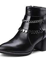 cheap -Women's Boots Wedge Heel Pointed Toe Classic Daily Solid Colored PU Booties / Ankle Boots Black / Gray