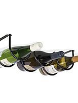 cheap -andora under cabinet wine rack farmhouse decor kitchen organization and storage rack for 3 liquor bottles black