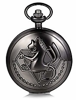 cheap -cosplay accessories anime fullmetal alchemist pocket watch with chain (black)
