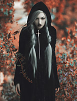 cheap -Plague Doctor Goth Girl Gothic Goth Subculture Vacation Dress Summer Party Costume Masquerade Women's Costume Black Vintage Cosplay Club Bar Long Sleeve