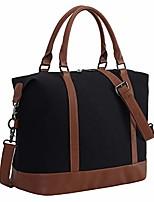 cheap -women ladies weekender bag overnight carry-on tote duffel in trolley handle (black&white blocks)
