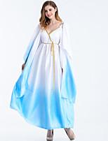 cheap -Goddess Retro Vintage Ancient Greek Vacation Dress Dress Outfits Masquerade Women's Costume LightBlue Vintage Cosplay Party Halloween Sleeveless / Waist Belt / Waist Belt