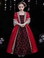 cheap -Princess Shakespeare Rococo Gothic Vintage Inspired Medieval Vacation Dress Dress Party Costume Masquerade Women's Costume Red / black Vintage Cosplay Party Masquerade Wedding Party 3/4-Length Sleeve