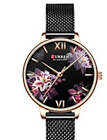 cheap -CURREN Women's Quartz Watches Quartz Modern Style Floral Style Minimalist Water Resistant / Waterproof Analog Rose Gold Black Gold / One Year / Stainless Steel / Japanese / Shock Resistant / Japanese