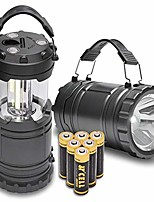 cheap -camping lanterns battery powered led lantern flashlights with batteries handheld collapsible rechargeable spotlight magnetic base 2 in 1 power outage lamps for emergency