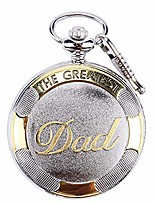 cheap -pocket watch with chain dad gifts vintage roman numerals quartz man watch from duaghter or son with box