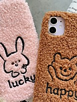 cheap -Case For Apple iPhone 11 Shockproof Back Cover 3D Cartoon / Plush TPU For Case iphone 11 Pro/11 Pro Max/7/8/7P/8P/SE 2020/X/Xs/Xs MAX/XR