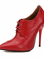 cheap -unisex men's women's pointed toe lace up stiletto high heel ankle boots red eu 47 - size 12.5 women/11 men