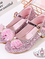 cheap -Princess Shoes Masquerade Girls' Movie Cosplay Sequins Blue / Pink / Silver Shoes Children's Day Masquerade