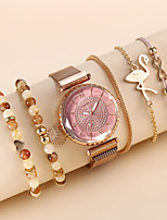 cheap -Women's Quartz Watches Quartz Modern Style Stylish Classic Chronograph Analog White Blushing Pink / Imitation Diamond
