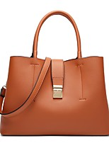 cheap -Women's Bags PU Leather Top Handle Bag for Birthday Office & Career Wine Black Almond Brown